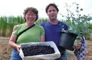 Me and my friend John after harvesting Himalayan Blackberries on his farm