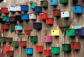Rainbow of Birdhouses