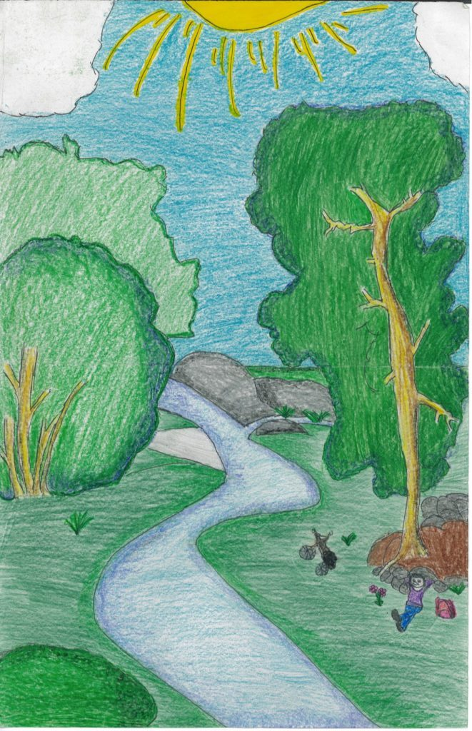 1st place from the 3rd-6th grade entries: Vanessa Zarala, Strathmore, California
