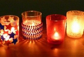 Fourth of July: Decorated Outdoor Votive Holders