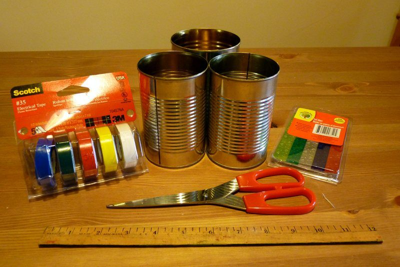 supplies for making American flag planter