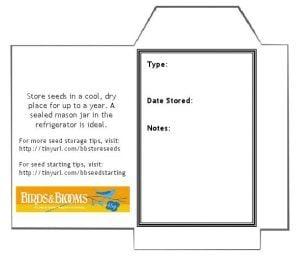 seed storage tips birds and blooms. Black Bedroom Furniture Sets. Home Design Ideas