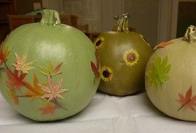 Pumpkin Projects: Paint and Decoupage