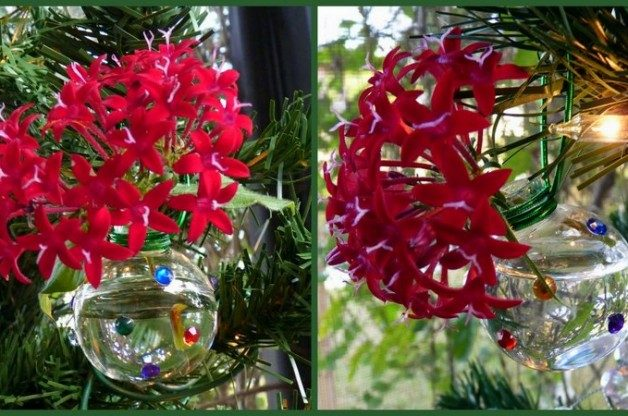Mini Vase Holiday Tree Ornaments Birds And Blooms