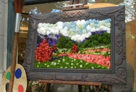 A 'Living' Painting Made of Flowers