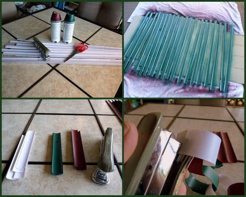 Recycled Backyard Holiday Chains From Vinyl Mini Blinds