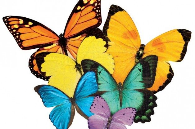 Butterflies puzzle from paper house for Drought resistant grass crossword clue