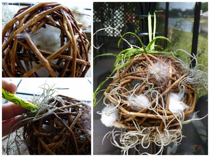 collage of grapevine nesting balls