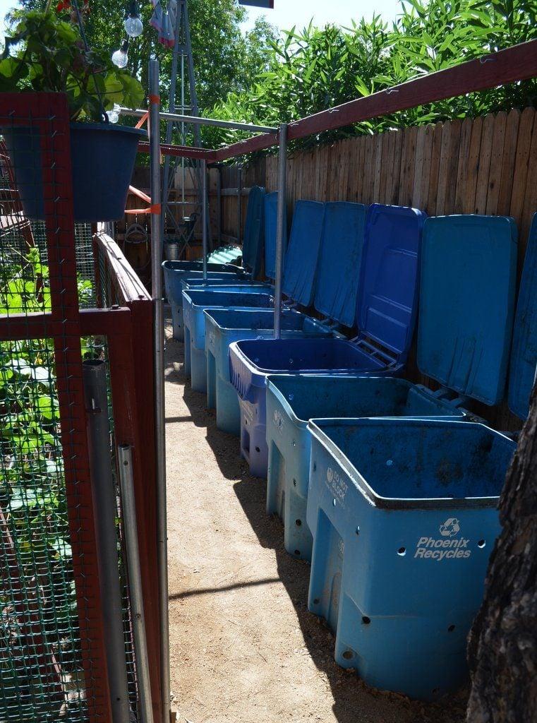 A Trash Can Compost Bin