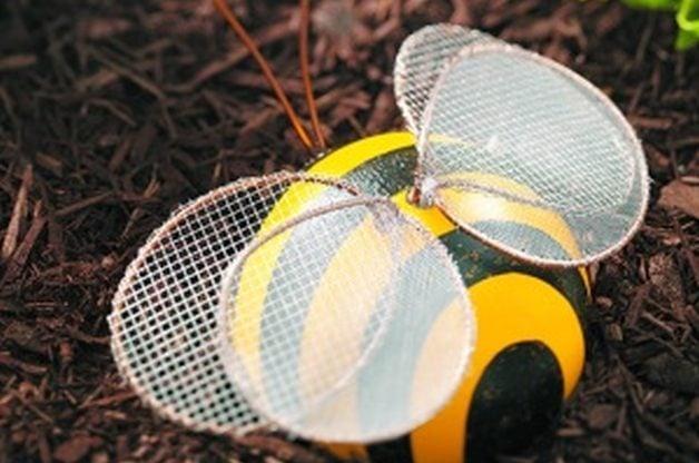 Bowling Ball Garden Art Bumblebee
