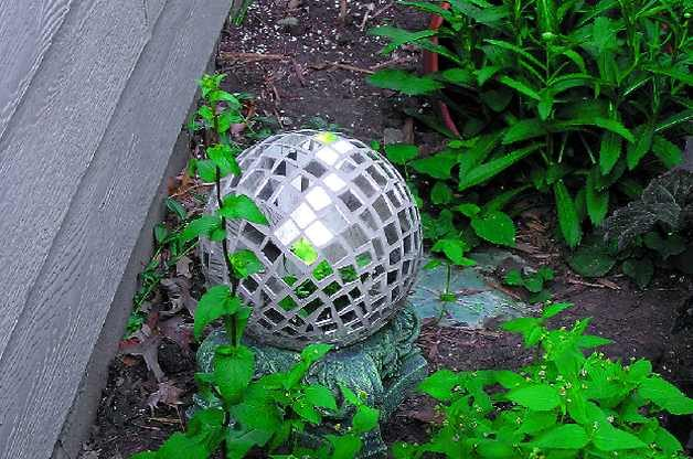 Bowling Ball Garden Art
