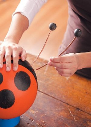 Bowling Ball Ladybugs Garden Art