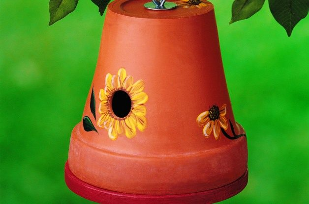 Clay Pot DIY Birdhouse