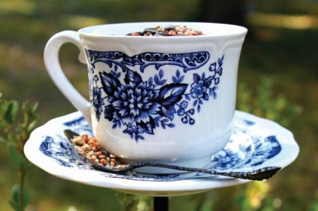 Coffee Cup Homemade Bird Feeder