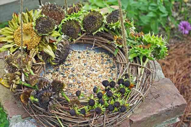 DIY Bird Feeder Wreath