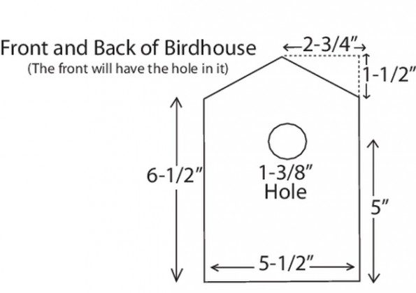 DIY Birdhouse Diagram A