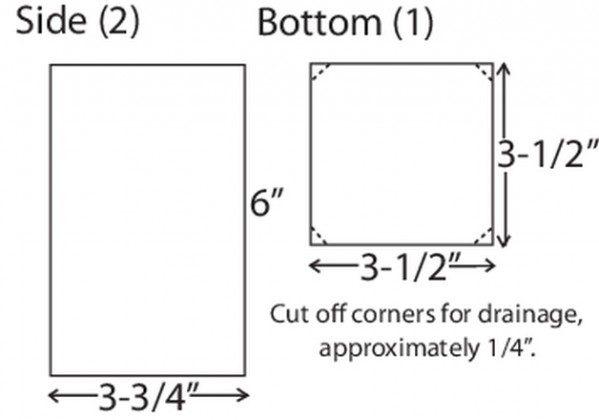 DIY Birdhouse Diagram B