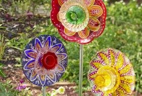 DIY Glass Garden Flowers