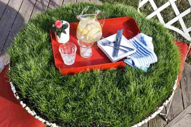 Grass DIY Picnic Table