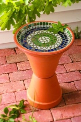 Mosaic Bird Bath