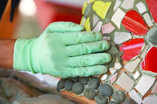 How To Decorate Flower Pots With Mosaic Tiles Birds And