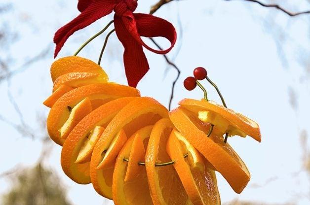 Orange Wreath DIY Oriole Feeder