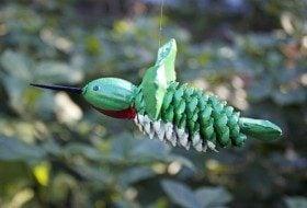 Pinecone Hummingbird Craft Project