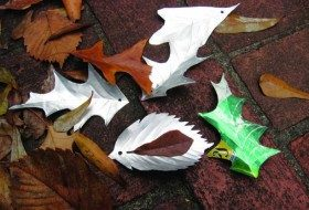 Aluminum Leaves Recycled Crafts Project