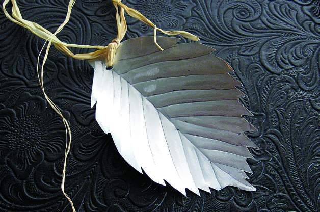 Recycled Crafts Aluminum Leaves 3