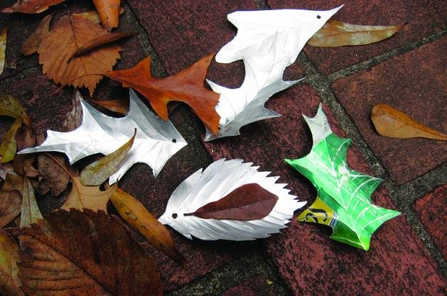 Recycled Crafts Aluminum Leaves