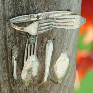 Silverware Homemade Suet Feeder