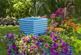 Stacked Garden Planter with DIY Fountain