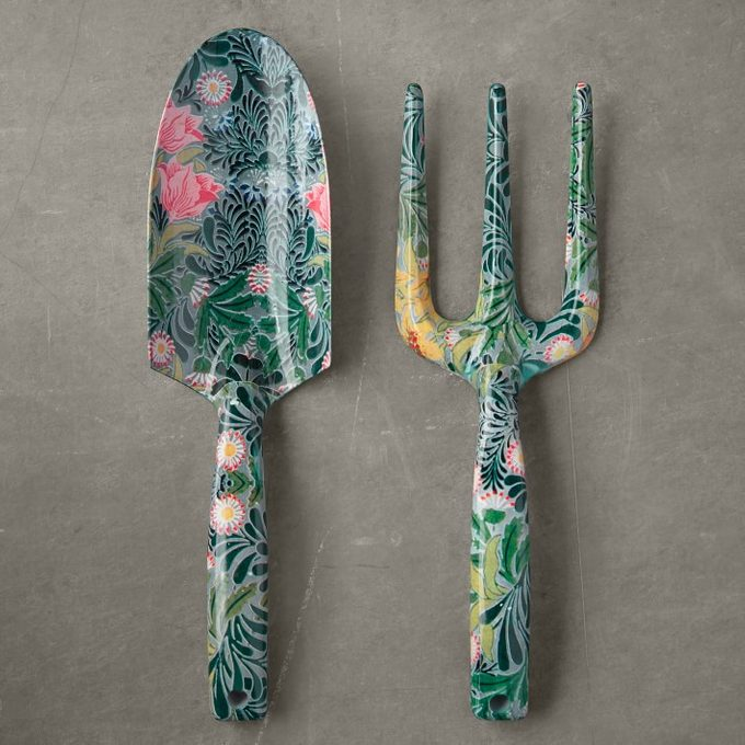 trowel and hand fork