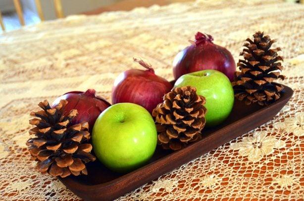 Christmas centerpiece produce
