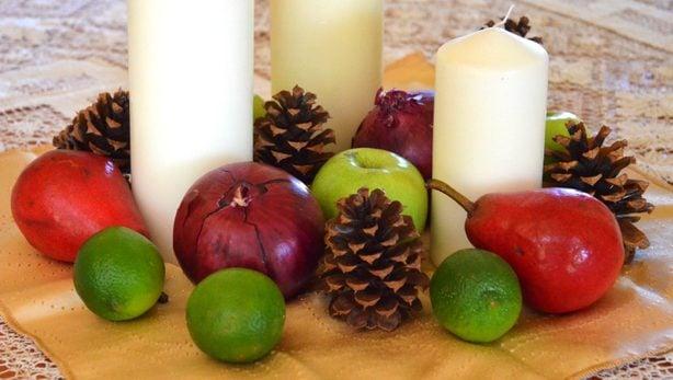 holiday centerpiece produce