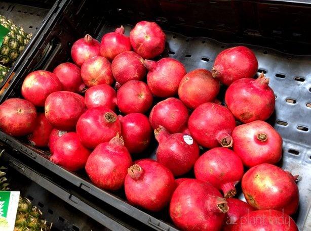 holiday decor pomegranates