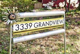 DIY Recycled Garden Sign