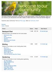 Join the Birds & Blooms community and start chatting today.