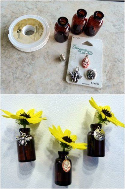 Bud Vase Magnets Charms
