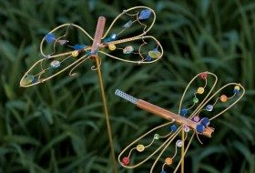 Dragonfly DIY Yard Art