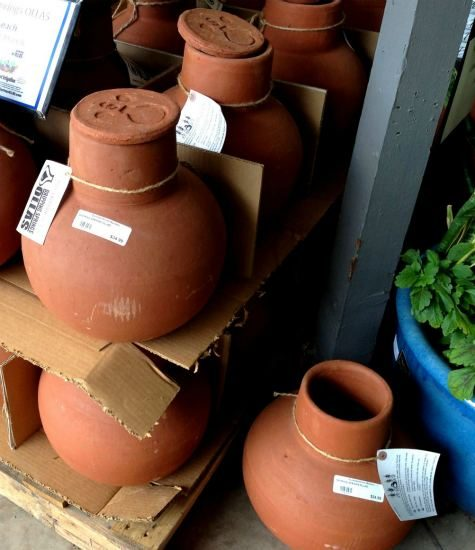 Ollas are clay pots used for irrigating plants