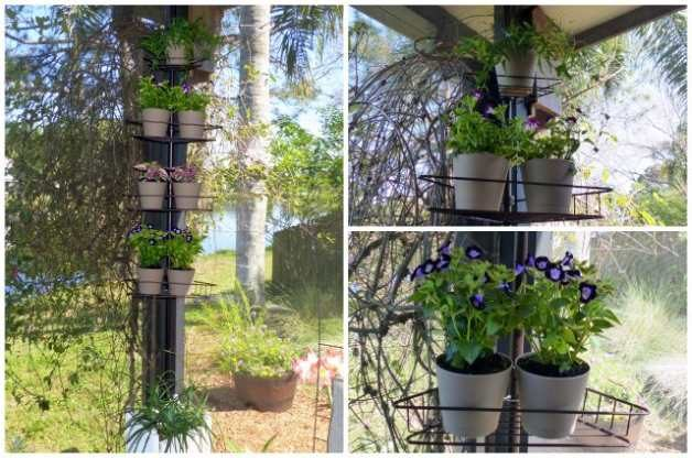 Recycled Garden Shower Caddy Plant Rack