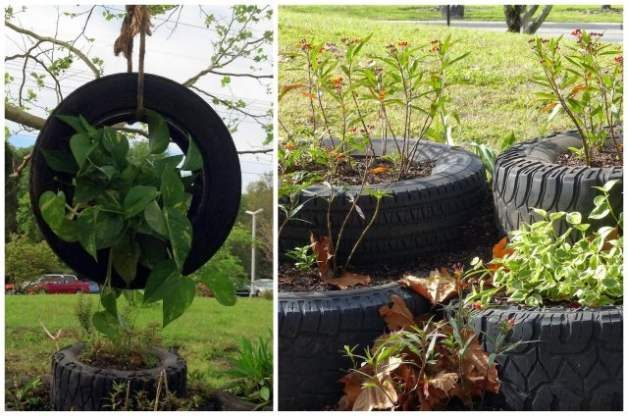 Recycled Garden Tire Garden