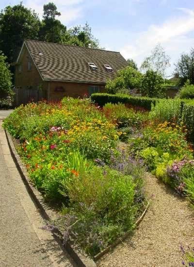 Flower garden next to home of C.S. Lewis