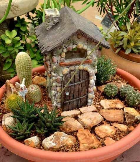 Succulent Fairy Garden House