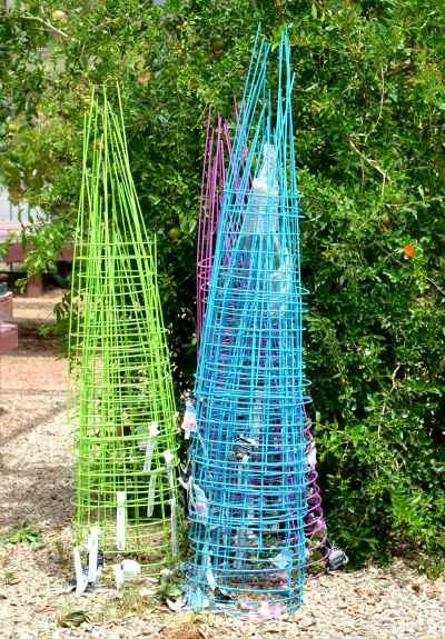 colorful tomato cages