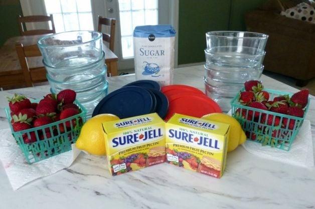 Strawberry Lemonade Freezer Jam