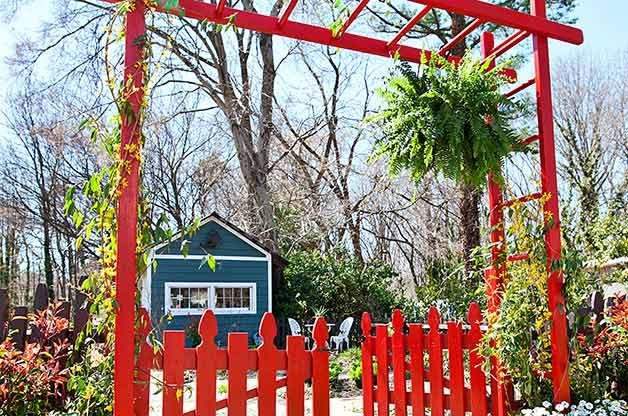 Transform An Existing Gate Into A Grand DIY Garden Arbor And Add Some Drama  To Your Yard!