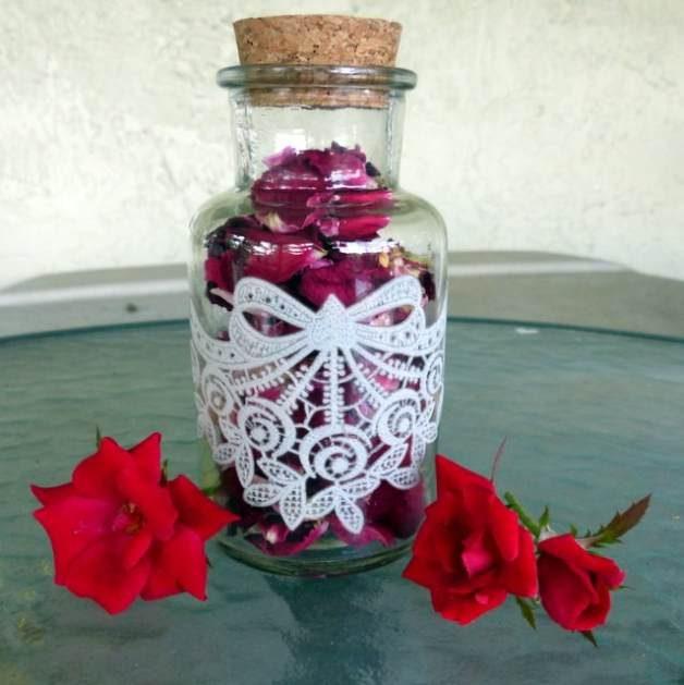 DIY Rose Jar