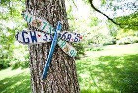 DIY Garden License Plate Dragonfly